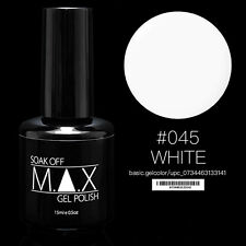 MAX 15ml Soak Off Gel Polonais Nail Art UV LED Couleur # 045 - Blanc