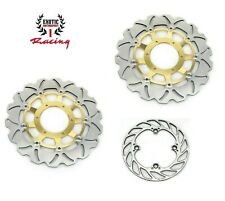 Front & Rear Brake Disc Rotors For Honda CBR 600 RR 2003-2016 Wave Rotors Gold