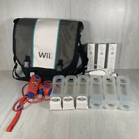 Lot Of Nintendo Wii Accessories Motion Plus Controllers Skins Bag Nunchuk