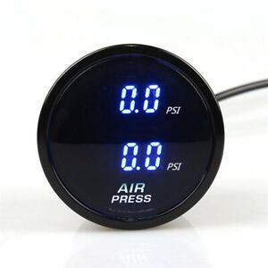 52mm LED Dual Digital Air Pressure Gauge PSI Air Suspension Meter w/ 2 Sensors