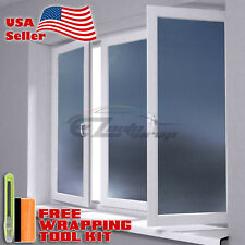 "*12""x48"" Gray Frosted Film Glass Home Bathroom Window Security Privacy Sticker"