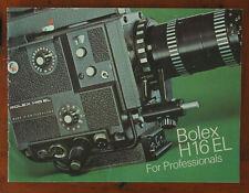 BOLEX H16EL FOR PROFESSIONALS SALES BROCHURE/60947