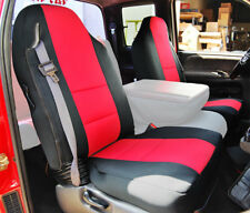 DODGE RAM 1998-2002 BLACK/RED S.LEATHER CUSTOM MADE FIT FRONT SEAT COVER