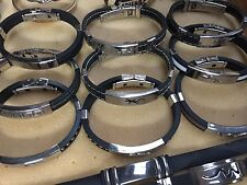 Rubber And Stainless Steel Bracelets free tracking