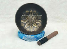 7 inches Flower Etching Singing bowl from Nepal-Best Meditation Healing Bowls