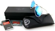 New Genuine RAY-BAN AVIATOR LIGHT RAY Transparent Blue Sunglasses RB 4211 646/55