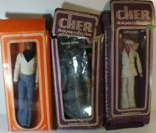 """Vintage IOB Sonny Cher 12"""" Pose-able Dolls w Original Clothes +1 for Cher MS200"""