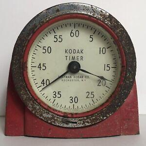 Vintage 1950s Red Eastman Kodak Darkroom Photography Timer 8239 Art Deco / As Is