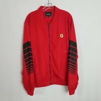 Pink Dolphin Mens Red Full Zip Casual Jacket Size 2XL CL01