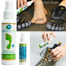 Natural Shoe Deodorizer Natural Ingredients Foot Deodorant Odor Stink Spray -New