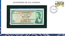 Banknotes of All Nations East Caribbean 5 Dollars 1965 Unc P14h sign 10 D11
