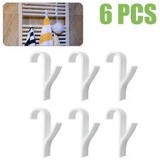 6pcs HIGH QUALITY Hanger for Heated TOWEL RAIL Radiator Tubular Bath HOOK HOLDER