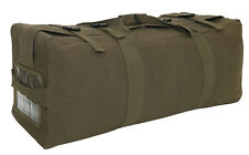 Olive Drab Canvas Military Style Duffle Bag 2 Strap Backpack Tactical 2747