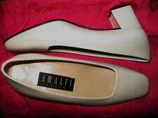 AMALFI SHOES BEIGE PEARL LEATHER LOAFERS ! SIZE 6B/36,5 !MADE IN ITALY