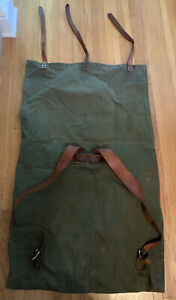 1950's Vintage Duluth Portage Canvas & Leather Canoe Pack, Monarch Brand NO 3-20