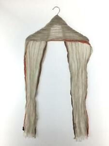Authentic Burberry black label beige linen scarf 18cm x 186cm