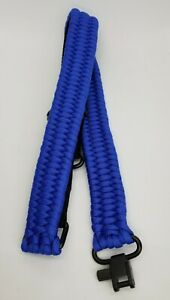 ParaCord Rifle Sling - Steel Hardware - Quick Detach Swivels 550 7 Strand Cord