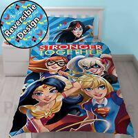 DC SUPER EROE ragazze Federa e copripiumino singolo set biancheria da letto