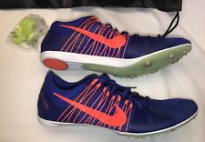 the latest 290ca b271a Nike Zoom Victory 2 Distance Track Spikes 555365 487 Blue Orange Mens Sz 12