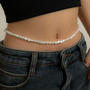 1pc Baroque Pearl Belly Chains Beaded Charms Waist Chain Women Fashion Body Jewe