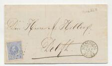Complete vouwbrief Rhenen - Veenendaal - Delft 1873 - Rekening Sigarenfabriek
