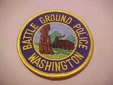 BATTLE GROUND WASHINGTON  POLICE PATCH **** FREE SHIP IN USA **** T2
