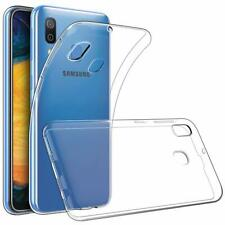 For Samsung Galaxy A30 Case Clear Silicone Slim Gel Cover & Stylus Pen