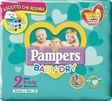 24 Pannolini Pampers Baby Dry Tg2 3-6kg