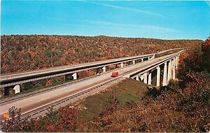 INTERSTATE I-80 220 KEYSTONE VIADUCT BRIDGES KYLERTOWN PENNSYLVANIA POSTCARD