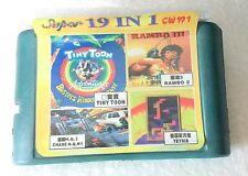 video game cartridge 16 bit 19 games in 1 videogame cassette z4 for sega