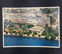 DR JIM STAMPS MONTREUX PALACE HOTEL SWITZERLAND VIEW CONTINENTAL SIZE POSTCARD