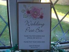Personalised Wedding Post Box Sign - Shabby Chic