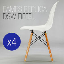 BRAND NEW SET of 4 REPLICA EAMES DSW CHAIR White and BLACK WHOLESALE PRICE