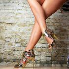 LUSSO scarpe donna Partito Sandali high heels tacchi alti a Spillo Sexy