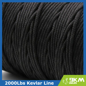 AMAZING BLACK KEVLAR LINE STRING ALL STRENGTH 100-750LB BRAIDED MADE WITH KEVLAR