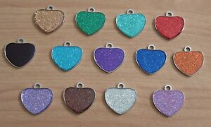 Expressions Engravers Glitter heart shaped pet/dog id tag