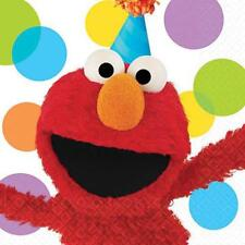 Elmo Party Sesame Street Lunch Dinner Napkins 16 Count Birthday Supplies New