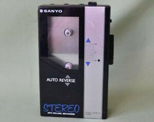 Vintage Sanyo Stereo Cassette Player Auto Reverse M-G55 Walkman HiFi - Working