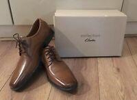 Clarks Shoes Mens Uk9 Eur43 Dark Tan Leather Tilden Walk Derby RRP £79 New (19)