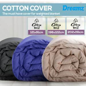 DreamZ Weighted Blanket Cover Cotton Heavy Gravity Deep Relax Adults Kids Zipper