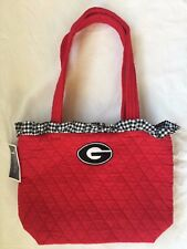 NWT Quilted Red Purse Black Gingham Ruffle University Georgia Dawgs