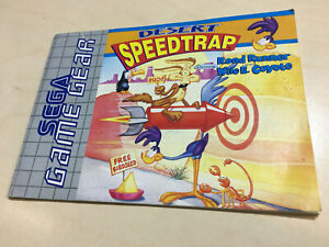 DESERT SPEEDTRAP - SEGA GAME GEAR Manual only
