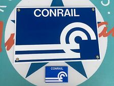 CONRAIL RAILROAD porcelain coated 18 gauge steel sign INCLUDES magnet