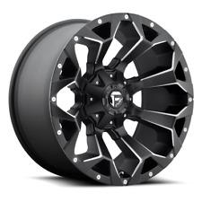 (4) 20x9 Fuel Black & Mill Assault Wheels 8x180 For 2011-2014 GM 2500/3500 PU