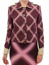NEW House of Holland Jacket Purple Check Trench Coat Blazer s. UK8 / US6 /s