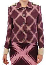 NWT $600 House of Holland Purple Check Trench Jacket Coat Blazer UK8 / US6 / S
