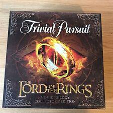 Il SIGNORE DEGLI ANELLI Trivial Pursuit | Film Trilogia Edizione Da Collezionisti Gioco da tavolo