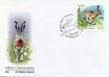 Estonia Fauna Stamps 2011 Fdc Brown Hare Wild Animals Mammals 1v Set