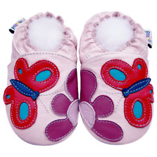 Littleoneshoes Soft Sole Leather Baby Infant Kid Garden Pink Shoes 24-30M