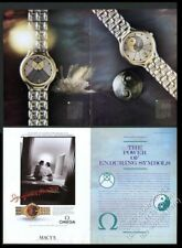 1988 Omega Yin & Yang and Sun watch color photo vintage print ad